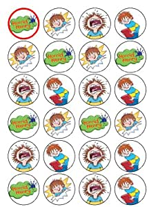 24 Horid Henry Cupcake Toppers