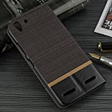 Tarkan Luxury Lenovo Vibe K5/K5 Plus Flip Cover: Leather Textured Back Stand Case with Card Slot