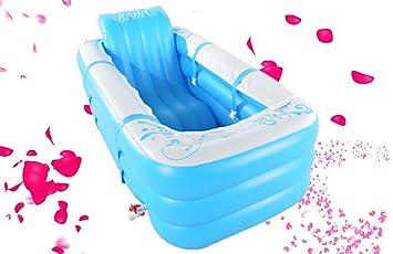 LYM & bañera Plegable Bañera Inflable Plegable Barril Adulto para ...