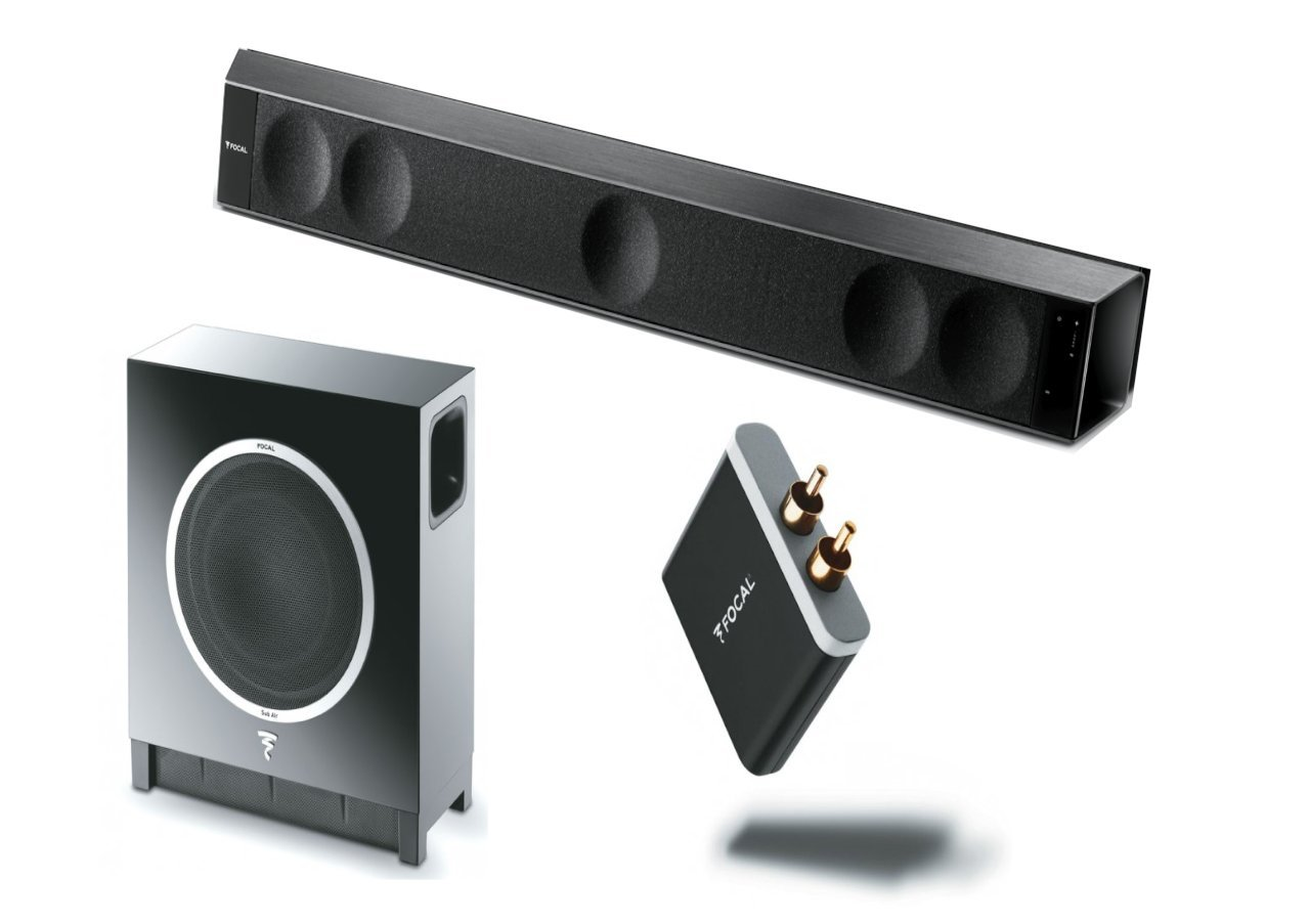Focal Dimension 5.1 Soundbar System with Sub Air Wireless Subwoofer and aptX Bluetooth Receiver by Focal