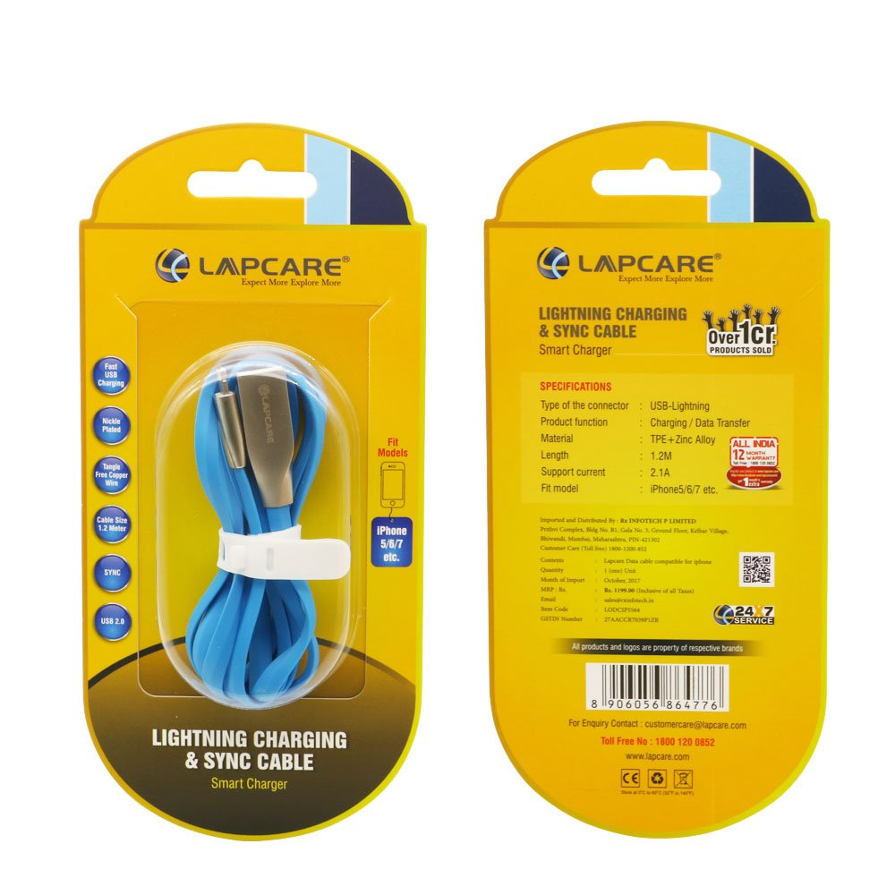 779757ee499972 Amazon.in: Buy Lapcare IP-5564 iPhone Data Cable Online at Low Prices in  India   Lapcare Reviews & Ratings