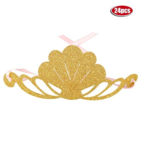 Golden Crowns Decor 24 Piezas Fiesta de cumpleaños Crown ...