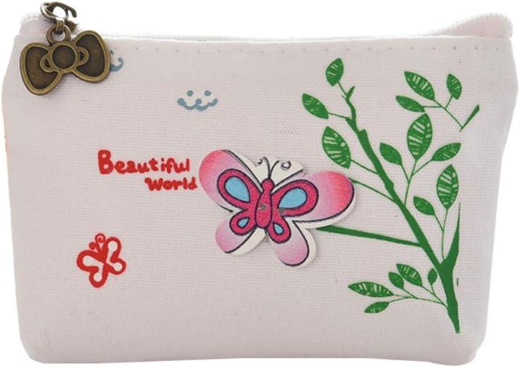 Blue Skyeye Coin Purse Cute Girl Hand Carry Canvas Purse Cartoon Cute Cloth Key Bag Coin Bag