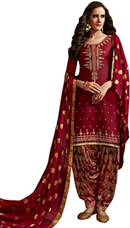 Patiala Stitched Punjabi Salwar Kameez Embroidered Womens Indian Dress Ready to wear Salwar Suit