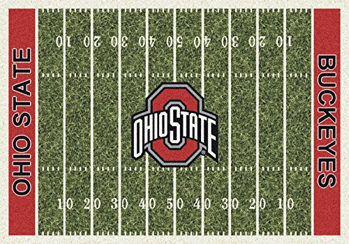 American Floor Mats Ohio State Buckeyes NCAA College Home Field Team Area Rug 5'4