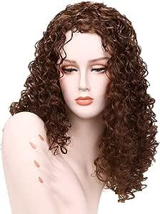 Peluca mujer angelof Wavy frisé 24 inch Cabello Rizado bicolor ...