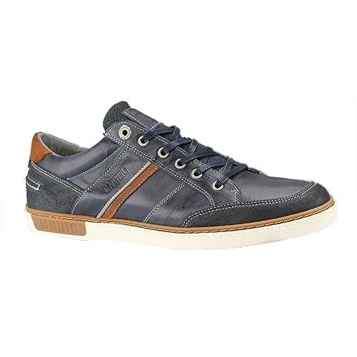 Mustang - Zapatos de cordones de Piel para hombre Azul azul, color Azul, talla 48 EU: Amazon.es: Zapatos y complementos