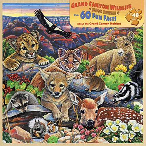 MasterPieces / Fun Facts 48-Piece Wood Puzzle, Grand Canyon Wildlife