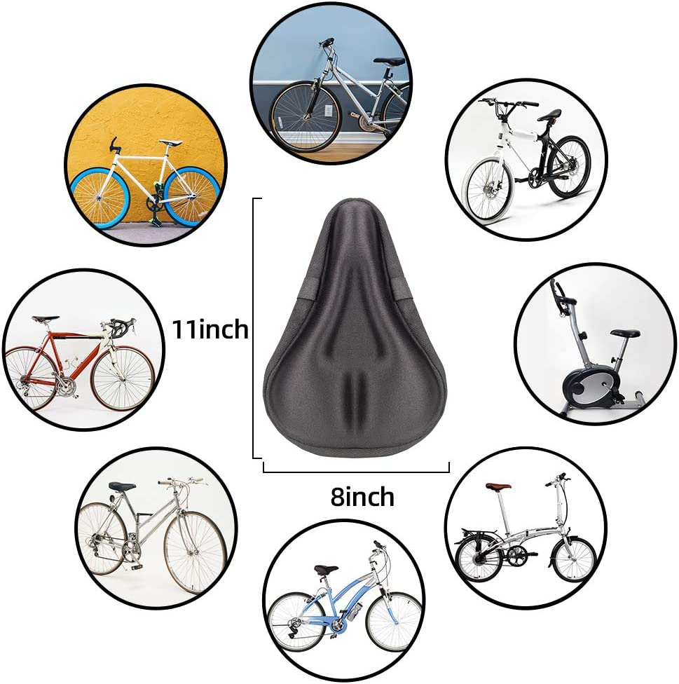 Bike Seat Cover,Silica Gel Bike Seat Cushion with Waterproof and Dustproof Cover for Mountain Road Bike Shared Bicycles Exercise Bike Seat Cushion for Women /& Man Comfort Bicycle Seat Cushion Covers