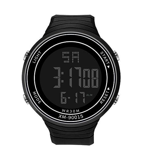 Dylung Reloj Deportivo para Hombre Mujer LED Reloj de ...