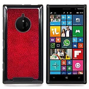 Eason Shop / Premium SLIM PC / Aliminium Casa Carcasa Funda Case Bandera Cover - Rojo del papel pintado Dise?o Textura Arte Textil - For Nokia Lumia 830