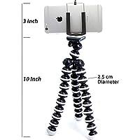 TROVON ABS Plastic Foldable Octopus Mini Gorilla Tripod Stand for Mobile Camera, DSLR, Smartphone and Action Cameras(13-inch, Black/White)