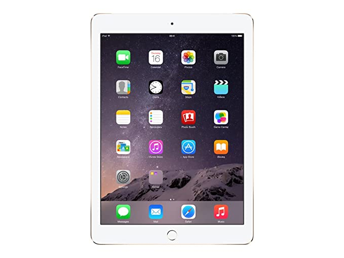 Apple iPad Air 2 Tablet  9.7 inch, 64 GB, Wi Fi + Cellular , Gold Tablets