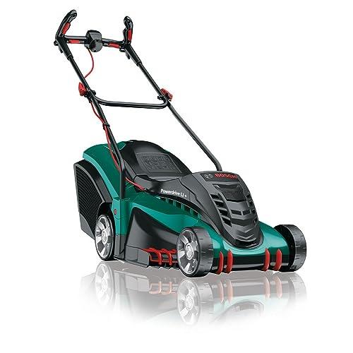 Bosch Tondeuse sans Fil Rotak 430 LI (2 Batteries, 36V, Bac de Ramassage 50 L, Chargeur, Carton, Largeur/Hauteur de Coupe : 43 Cm/2-7 Cm)