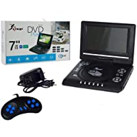 DVD Portatil com TV FM e Video Game, USB, SD, Controle