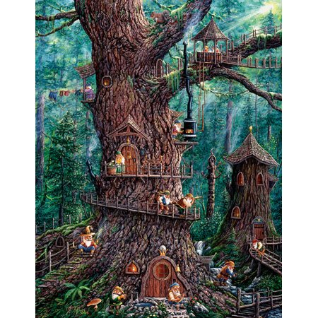 SunsOut Forest Gnomes - 1000 Large Piece Jigsaw Puzzle -