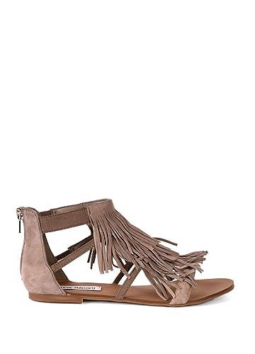 Steve Madden Women's Favorit Taupe Suede Sandal 6.5 M