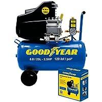 Motocompressor de Ar 8,8 Pés 25 Litros 2,5HP 220V-GOODYEAR-GYCP0000233
