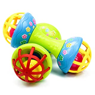 E-SCENERY Baby Rattles Teether Ball Toy for Kids Toddlers Infants, Early Educational Toys (Bell)