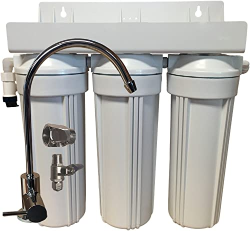 Abundant Flow Water Systems DWF-3-SDAA55 SDAA55 3 Stage 10 Drinking Water Filter for Fluoride, Arsenic, Heavy Metal Removal w Activated Alumina GAC KDF
