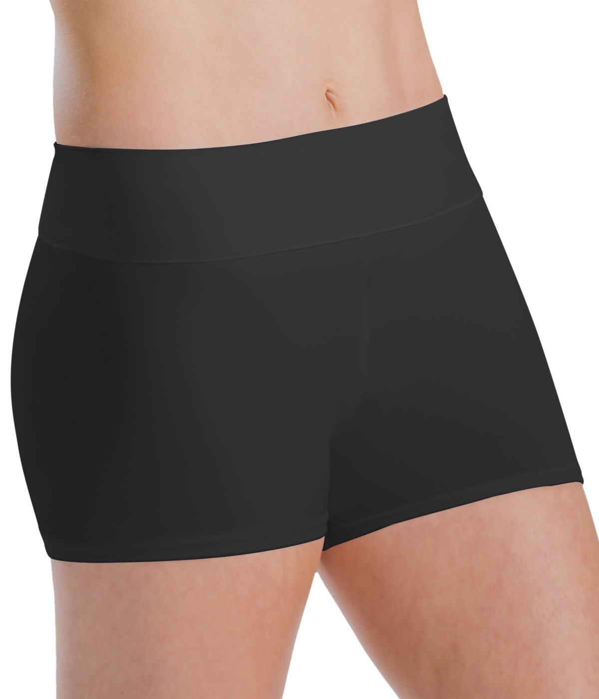 Motionwear Roll-Top Short, Black, Small Adult by Motionwear