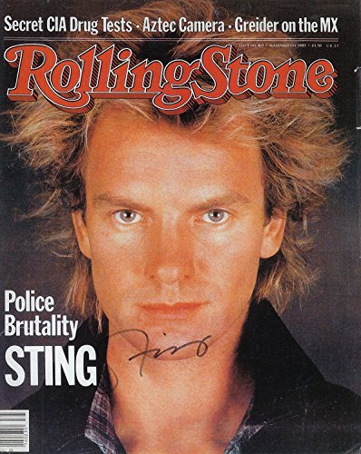 Sting Signed Autographed Rock Singer Stone Police 8 X 10 Color Photo INVENTORY REDUCTION SALE