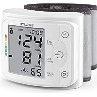 Blutdruckmessgerät Handgelenk HYLOGY Vollautomatische professionelle Blutdruk-und Pulsmessung 2 * 120 Speicherplätze LCD großem Display und Tagbare Aufbewahrungsbox, Mehrweg