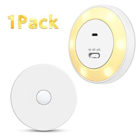 LED Luz Nocturna Sensor Movimiento, TASMOR LED Lámpara Nocturna Automatica con Magnético, 3 Modos Sensor Luz Inalámbrica Recargable USB para Entrada, ...