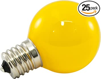 Amazon Com American Lighting Dimmable Led G40 Opaque Globe Light Bulbs E17 Intermediate Base Yellow 25 Pack Home Improvement