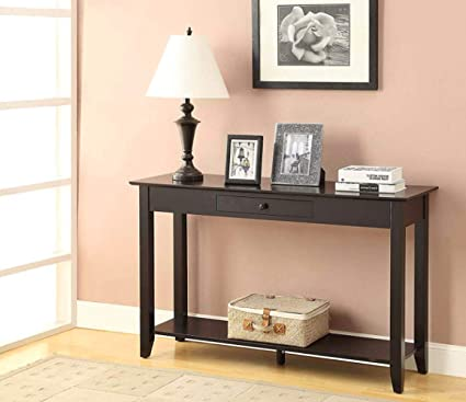 Console Table With Storage Premium Quality Black Color Wooden 1 Shelf