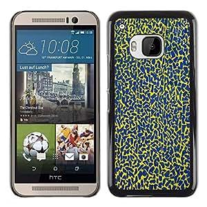 Be Good Phone Accessory // Dura Cáscara cubierta Protectora Caso Carcasa Funda de Protección para HTC One M9 // Blue Spots Pattern Abstract Colors