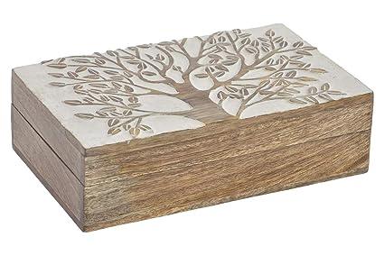Vilys House Caja decoración Madera con Tapa Decorada, para Guardar Tus Joyas, Tus pequeñas