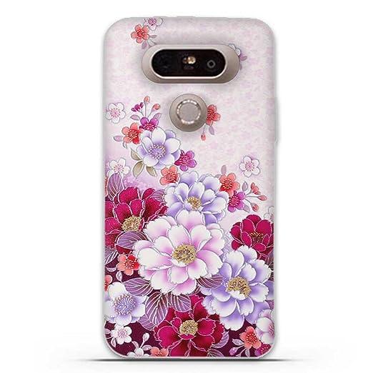 8 opinioni per LG G5 Cover, Fubaoda 3D Rilievo Fiore Classic UltraSlim TPU Skin Cover