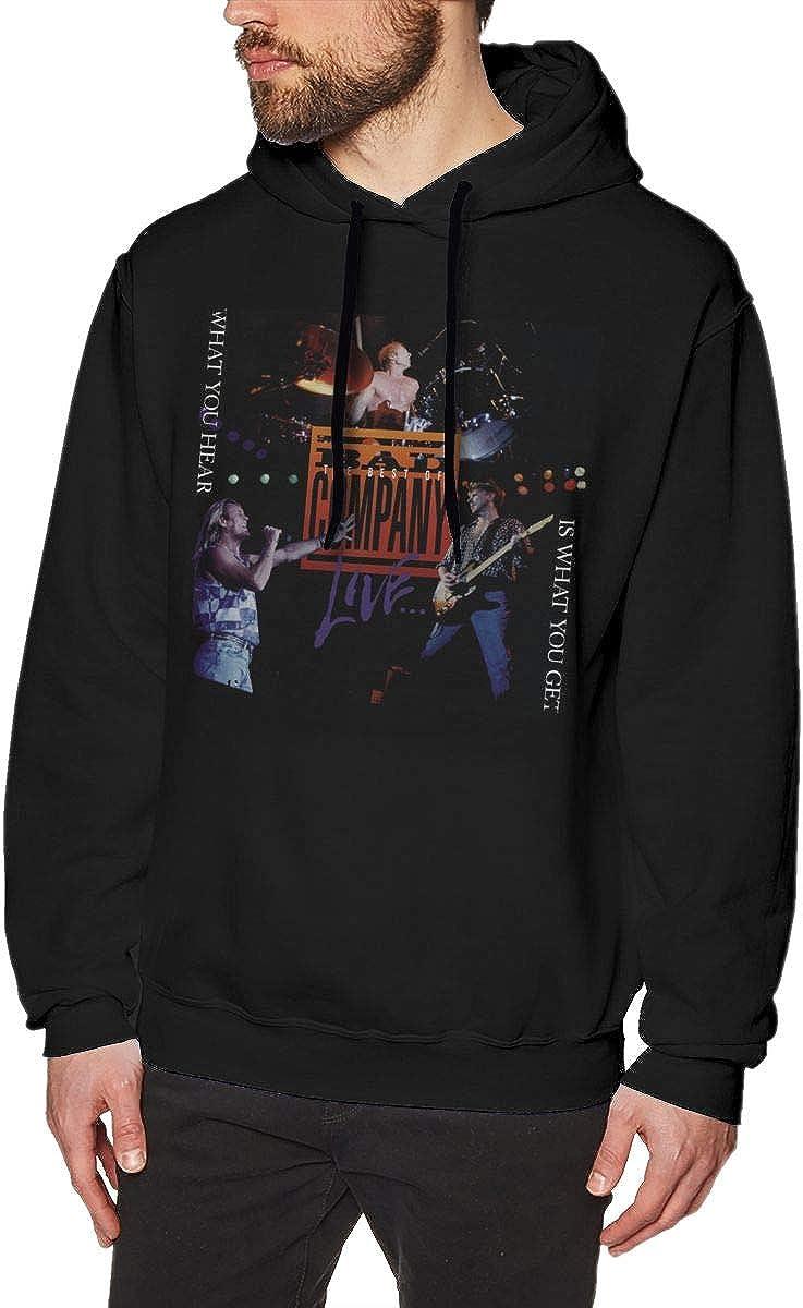 Bad Company What You Hear is What You Get Mens Hoodie Sweatshirt Black