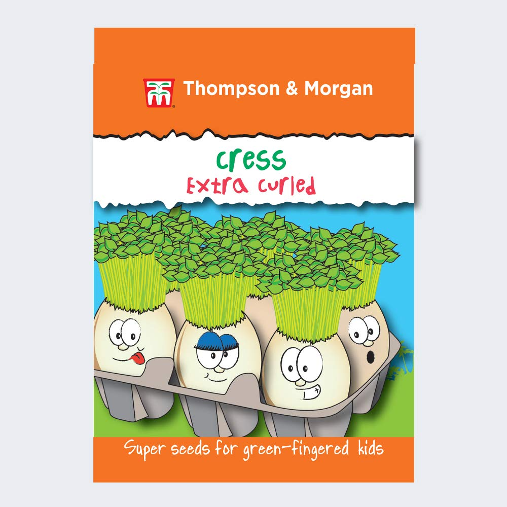 Thompson & Morgan - T&M Super Seeds for Green Fingered Kids Grow Your Own Vegetable Gardening Garden Plant - Vegetables - Cress Extra Curled