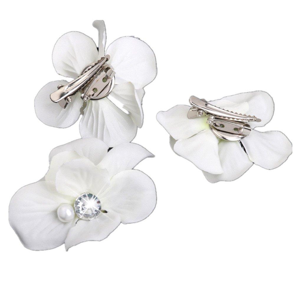 Bridal Flower Hair Clip Hairpin Brooch Wedding Bridesmaid Party
