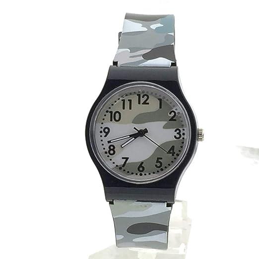 MA87 - Reloj de Pulsera Digital para niños y niñas, Color Morado (Gris)