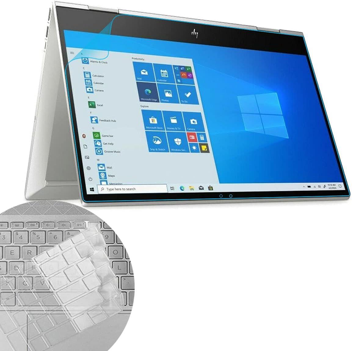 MUBUY for HP Envy 15m-ee 15-ee Series 15.6 Blue Light Screen Protector Filter, HP Envy X360 15m-ee0013dx ee0023dx 15-ee0047nr, etc. Full-Screen Protector & Keyboard Cover, Reduces Eye Strain