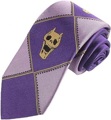 JoJo/'s Bizarre Adventure KILLER QUEEN Kira Yoshikage Cosplay Silk Skull Tie