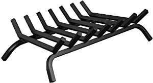 """Goplus Fireplace Log Grates, Steel Fire Grates, 3/4"""" Heavy Duty Wide Iron Firewood Burning Rack Holder for Indoor Chimney Hearth Wood Stove and Outdoor Camping Fire Pit (30 inch)"""