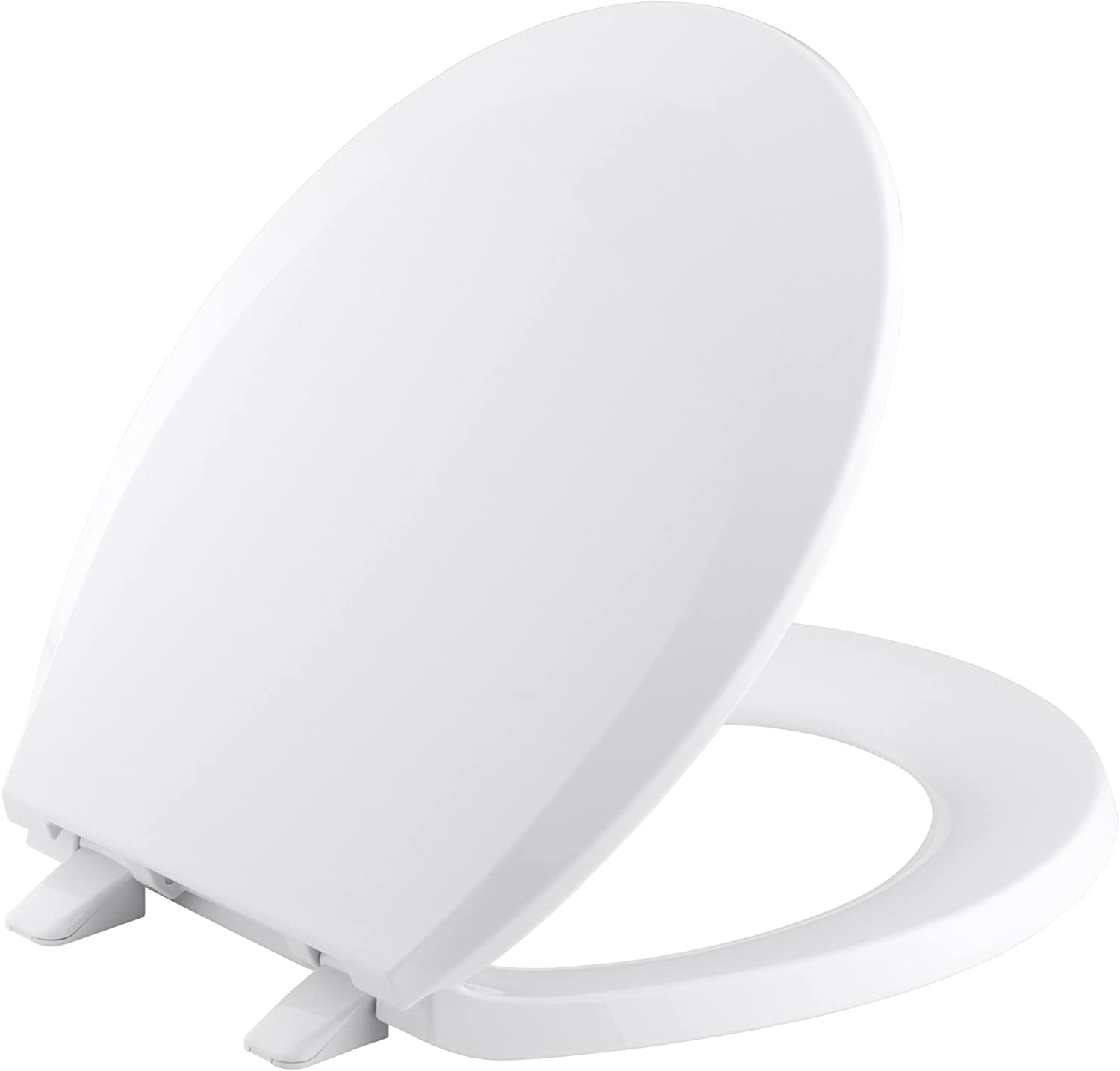 B00084FNQ4 KOHLER K-4662-W2 Lustra with Quick-Release Hinges Round-front Toilet Seat, Earthen White 61ua0NwXhhL