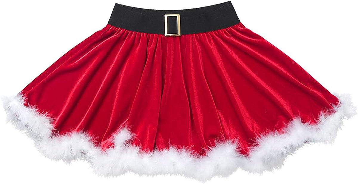 festa di Natale Feeshow per feste di compleanno matrimonio Gonna da festa di Natale colore: Rosso