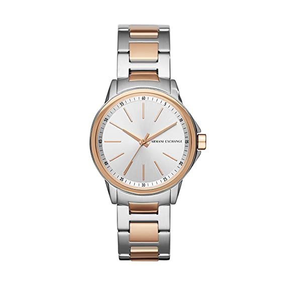 Armani Exchange AX4363 Reloj para Mujer, color Plata: Amazon