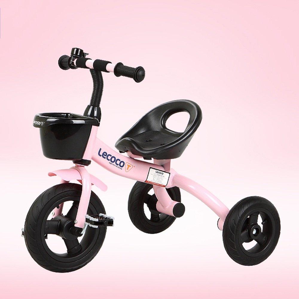 YANFEI 子ども用自転車 マウンテンバイク、ベビーキャリッジ、三輪車、子供用自転車、ベビーバイク、子供の男の子、女の子用トイカー 子供用ギフト B07DZCK5T6 ピンク ぴんく ピンク ぴんく