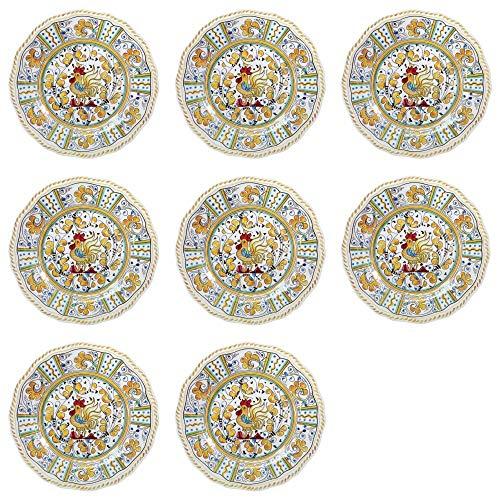 (Le Cadeaux Rooster Yellow - Melamine Salad Plates - Set of 8 by Le Cadeaux)