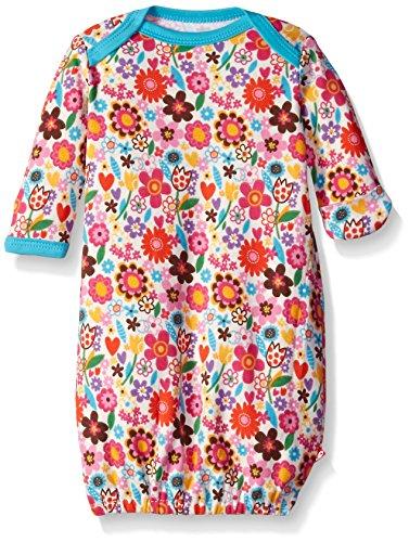 Zutano Baby-Girls Sweet N Flower Gown, Cream, 6 - Cotton Zutano Blankets