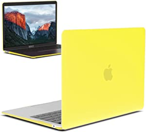 IBENZER MacBook Air 13 Inch Case 2020 2019 2018 New Version A1932, A2179, Hard Shell Case Cover for Apple Mac Air 13 Retina with Touch ID, Yellow, MMA-T13YW