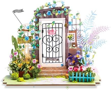 KEHUASHINADIY Casa Jardín Casa de muñecas Accesorios Decorativos Proyecto de Madera Mejor Adulto y Mejor Regalo de cumpleaños para niños: Amazon.es: Juguetes y juegos