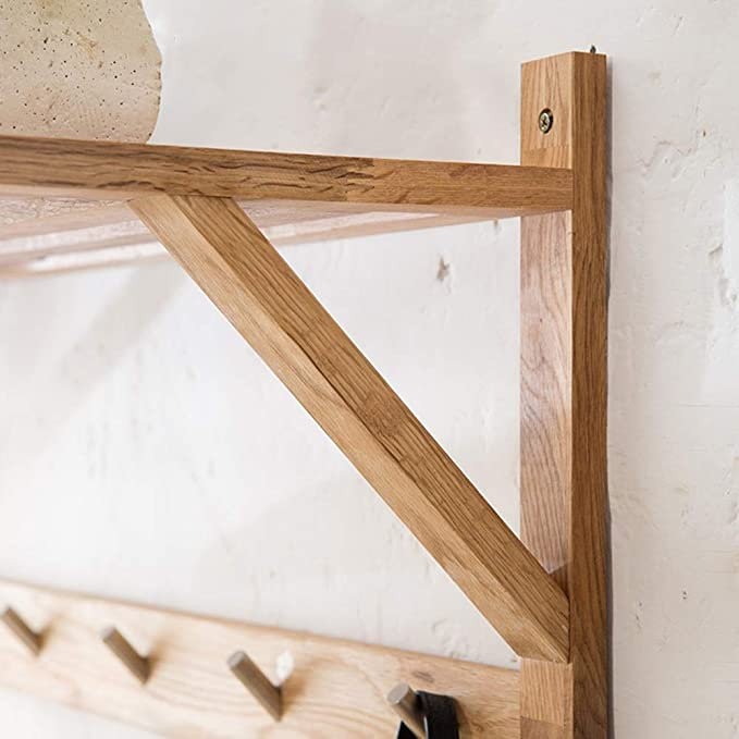 Amazon.com: Coat RACK Feifei - Perchero de pared de madera ...