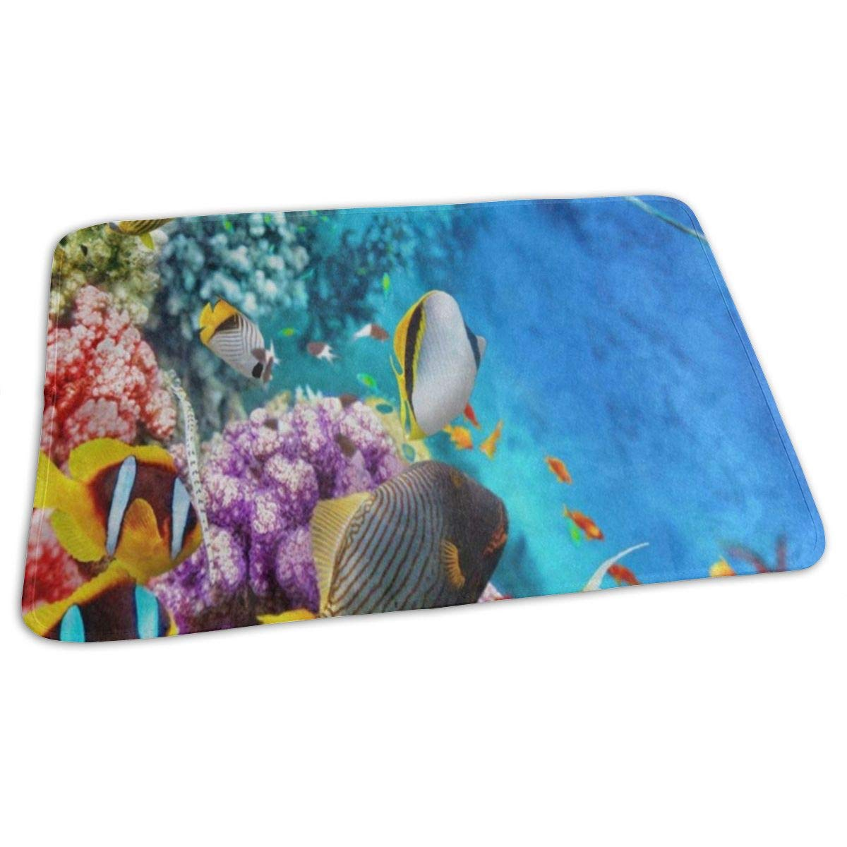 Changing Pad Beautiful Underwater World Fish Coral Reef Baby Diaper Incontinence Pad Mat Amazing Toddler Children Mattress Pad Sheet for Any Places for Home Travel Bed Play Stroller Crib Car